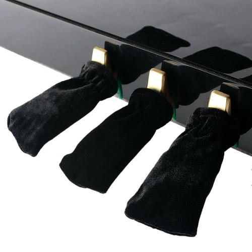 3枚入ピアノ維持する美しいペダル カバー Pleuche ユニバーサル