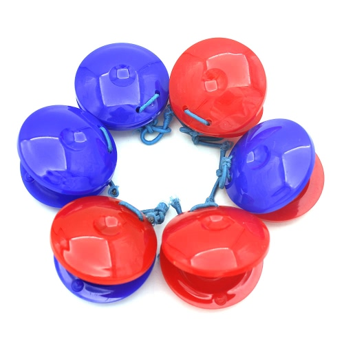 Pair of Finger Castanets Clackers 2pcs Plastic Percussion Instrument Idiophone for Dance Show KTV Party Kids Games