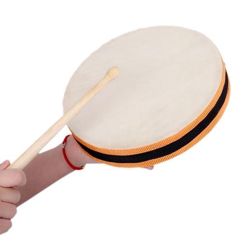 """8 """"Drewniana ręczna perkusja perkusyjna Musical Instrument edukacyjnych zabawek dla dzieci KTV Party dziecięce"""