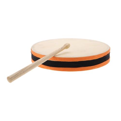 """Bild von 8"""" Holz Hand Drum Dual-Head mit Drum Stick Rhythmusinstrument musikalische pädagogisches Spielzeug für KTV Party Kinder Kleinkind"""