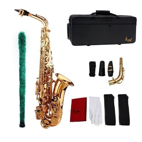 Saxophone Sax Eb Be Alto E Flat Brass Carved Pattern on Surface