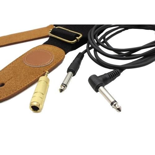 3-in-1 Gitarre Ukulele Amp 2,6 m Kabel Kabel Audio Jack Converter 3,5 mm männlich 6,5 mm weiblichen verstellbare Strap Saiteninstrument Zubehör Kit