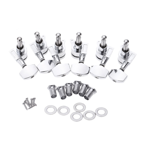 Chrome Lock Sealed Tuning Pegs Tuners Machine Heads 3R 3L Electric/Acoustic Guitar Parts