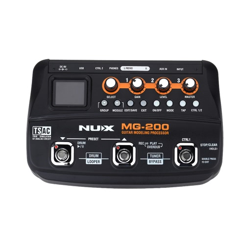 NUX MG-200 Guitar Modeling Processor Guitar Multi-effects Processor with 55 Effect Models