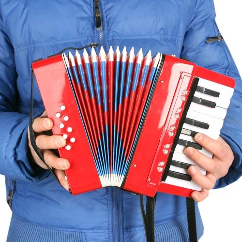 子供子供 17 キー 8 ベース ミニ小さなアコーディオン教育楽器リズムおもちゃ