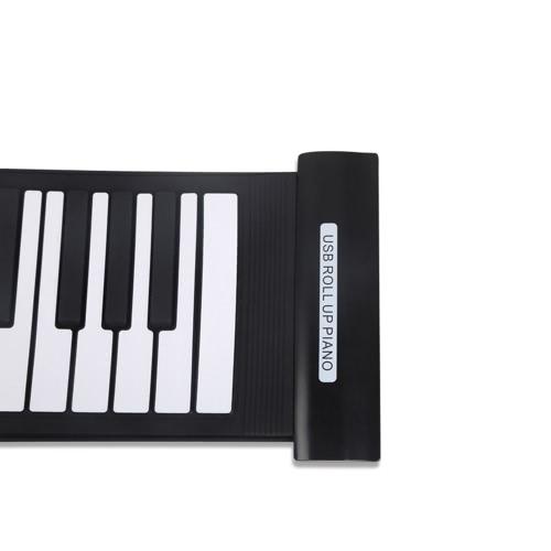 Portable 61 Keys Flexible Roll-Up Piano USB MIDI Electronic Keyboard Hand Roll Piano I910