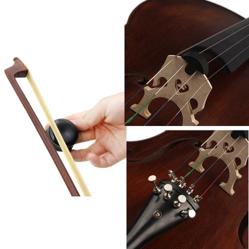 3-in-1 Cello Accessory Set Kit Round Cello Mute Rosin Fine Tuner for 3/4 4/4 Cello