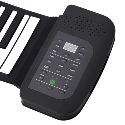 6c8a0155eb5 Portable 88 Keys Silicone Flexible Roll Up Piano Foldable Keyboard Hand-rolling  Piano with Battery Sustain Pedal (US plug)