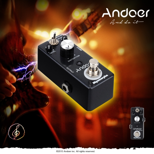 Andoer TC-13 Distortion Guitar Effect Pedal True Bypass Myomorpha