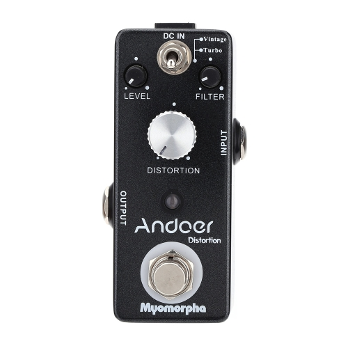 Andoer TC-13 Distortion Pedał gitarowy True Bypass Myomorpha