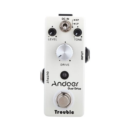 Andoer TC-16 Overdrive Guitar Effect Pedal True Bypass