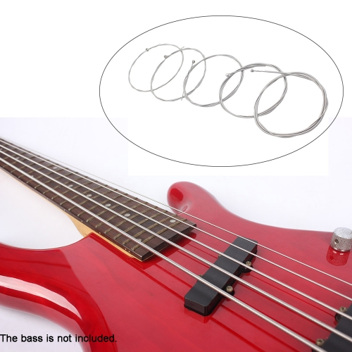 5pcs Electric Bass String Set Nickel Plated Steel Accessory .040-.125