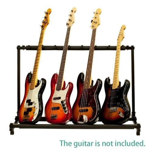 Andoer® Sieben Mehrere Gitarre Bass FaltendeAnzeigen Halter Standzahnstange Band Bühne