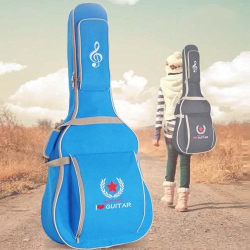 600D Water-resistant Oxford Cloth 10mm Sponge Cotton Padded Guitar Bag Backpack Shoulder Straps Pockets Gig Case for 41Inchs Acoustic Classic Folk Guitar