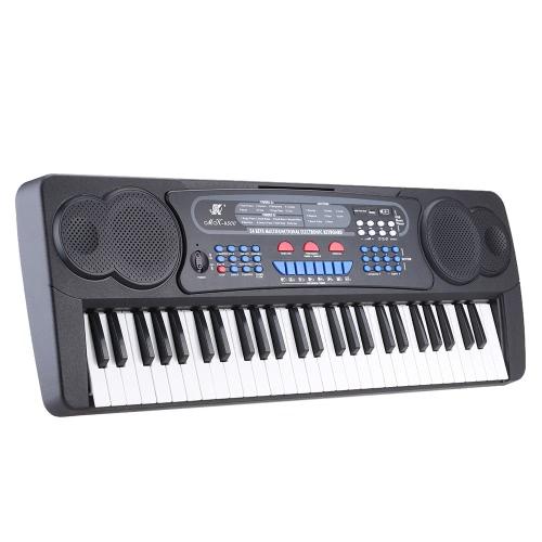 54 キー多機能グッズ タイプ電子キーボード電子ピアノ オルガンと、譜面台・ マイク