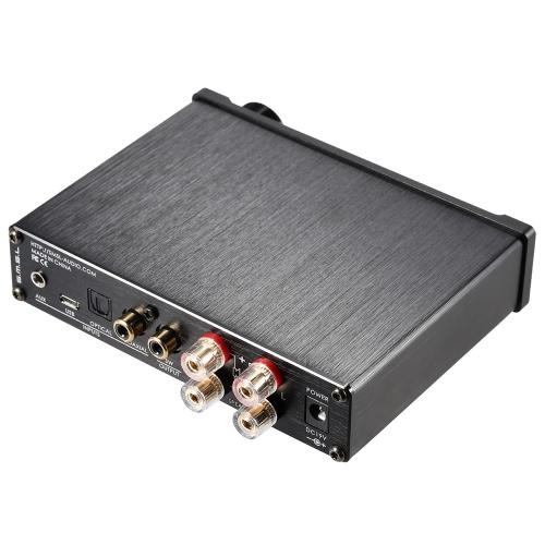 SMSL Q5 Pro Mini Портативный цифровой HiFi 3,5 мм AUX Аналоговый / USB / коаксиальный / оптический стерео аудио Усилитель мощности усилителя с пульта дистанционного управления, S.M.S.L Q5 про мини портативных HiFi цифровой 3,5 мм AUX аналоговые / USB / ко