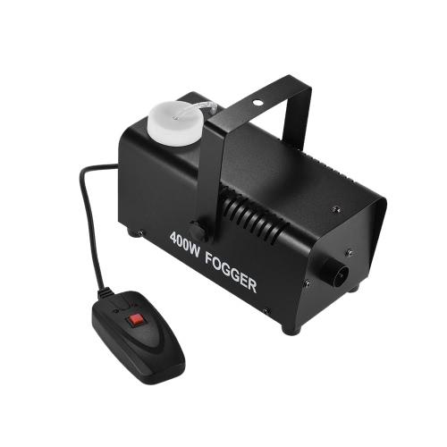 パーティーライブDJバーカラオケステージエフェクト用有線リモコン付き400ワット噴霧器フォグスモークマシン