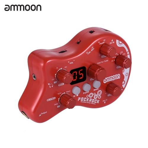 ammoon PockRockポータブルギターマルチエフェクトプロセッサーエフェクトペダル