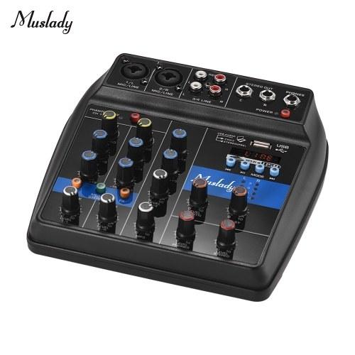Muslady S-1 Mixer audio digitale portatile a 4 canali BT Mixing Console