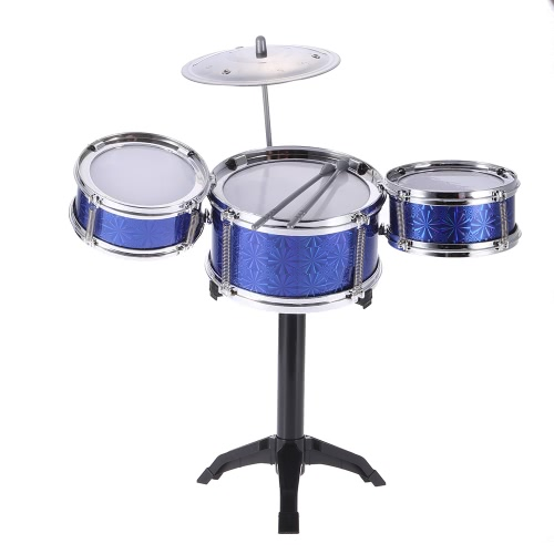 Children Kids Desktop Drum Set 3 Drums Musical Instrument Toy with Small Cymbal Drum Sticks