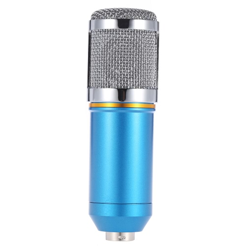 TOMTOP / Broadcasting Studio Recording Condenser Microphone Mic with Shock Mount Anti-wind Sponge Cover Cable
