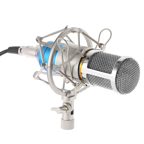 Broadcasting Studio Aufnahme Kondensator Mikrofon Mic mit Shock Mount Anti-Wind Schwamm Abdeckung Kabel