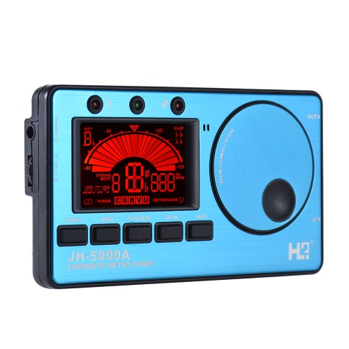 3 in 1 Electronic Digital Tuner Metronome Tone Generator Built-in Mic Tuning LCD Display for Chromatic Guitar Bass Ukulele Violin