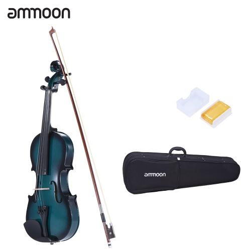 ammoon 1/4 Dimensioni tiglio violino Maple scorrimento Tastiera Pioli in lega di alluminio Cordiera con l'alta qualità Rosin arco di violino di caso di pendenza di colore
