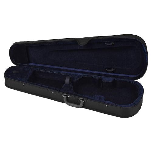 Professionelle 1/8 Violine Dreieck Form Gehäuse Box Hard & Super Licht mit Schultergurte Grau
