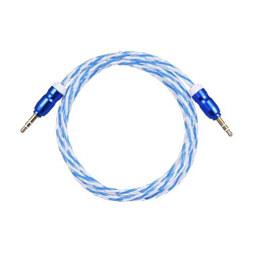 3.5mm Mann zu 3.5mm Mann Aux Auxiliary Audiokabel-Verbindungsstück-Draht (3.3ft / 1m) für Auto-Träger-Smartphone-Handy-Computer MP3-Musik-Lautsprecher