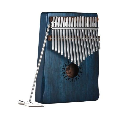 17-Key Portable Kalimba Mbira Thumb Piano Mahogany Instrumento musical de madera maciza regalo para amantes de la música Beginner Students