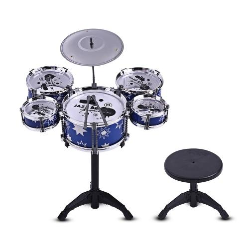 Children Kids Jazz Drum Set Kit Musical Educational Instrument Toy