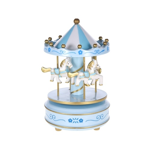 Merry-Go-Round Carousel Music Box Classical Melody Birthday Christmas Festival Musical Gift for Children Kids