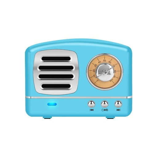 Mini Rechargeable Wireless Stereo Retro Speaker Built-in Microphone