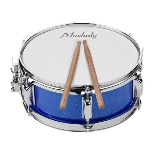 Muslady 12-дюймовая головка барабана с барабанными палочками Ремешок для барабана для студенческого оркестра