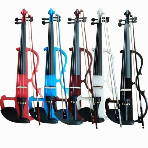 4/4 Electroacoustic Violin Kit Solid Wood Electric Silent Violin
