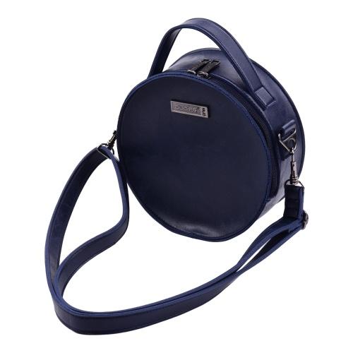 Estuche blando portátil elegante con forma de círculo de microfibra de cuero con forma de círculo Kalimba Bolsa de almacenamiento