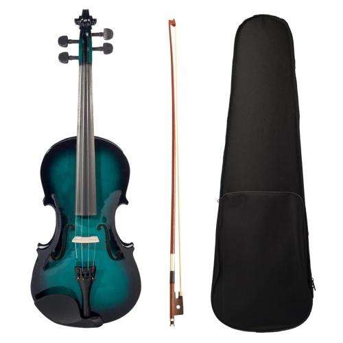 4/4 handgefertigtes akustisches Violinset in voller Größe Basswood & Maple & Brazil Round Timber & Alloy Material