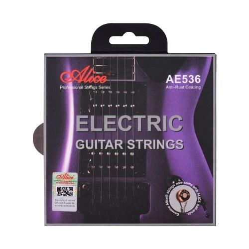 Cordes de guitare électrique Ensemble de cordes d'enroulement en alliage de fer à noyau hexagonal pour guitares électriques 22-24 frettes