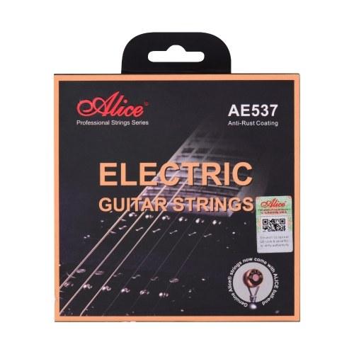 Alice AE537-L Струны для электрогитары с шестигранным сердечником, набор струн из бронзового сплава и железа для намотки 22-24 ладов, электрогитары