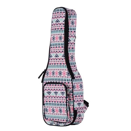 Ammoon Soprano Ukulele Gig Bag 21 pouces élégant sac à dos en coton rembourré étui de transport avec doublure en flanelle