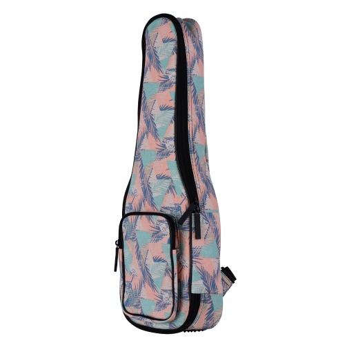 Ammoon Soprano Ukulele Gig Bag 21 pulgadas elegante mochila de algodón acolchada con forro de franela
