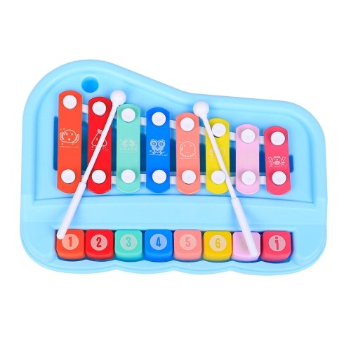ammoon SY-73 2-in-1 Xylophone Piano Musical Instrument Toys