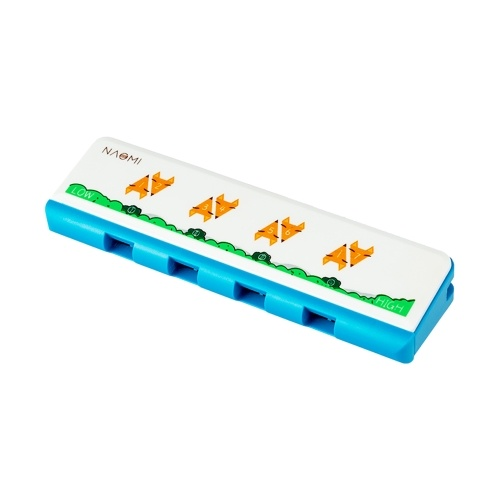 NAOMI Kids Harmonica Plastic Diatonic Harmonica with 4 Holes 8 Notes Musical Instrument Toy for Boys Girls 1 PCS
