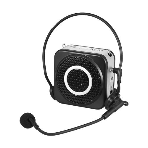 Amplificatore portatile ricaricabile amplificatore vocale TAKSTAR E160 12W con ingresso ausiliario a microfono a testa capillare per guide di corsa