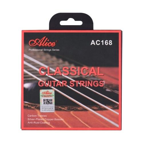 Alice AC168-H Струны для классической гитары Кристалл нейлоновый сердечник Углеродные струны Профессиональный набор струн для музыкальных инструментов для классической гитары от 34 до 39 дюймов