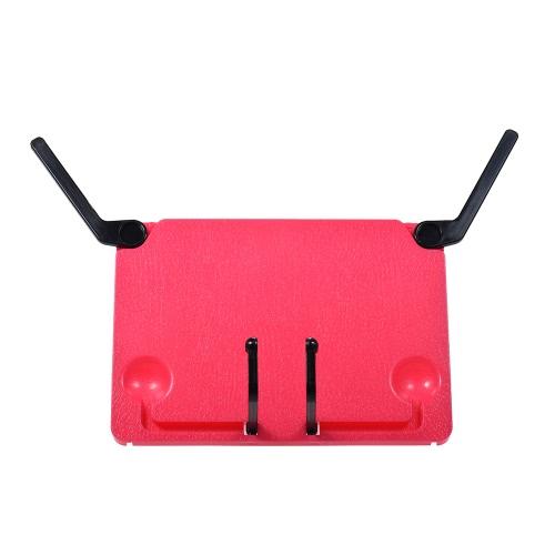 Tragbare Faltbare Musik Notenblatt Stand Halter Support Bookend Buchstand Buchhalter Lesung Rahmen für iPad Laptop Tablature Kochbuch Rose Red