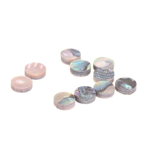 Touche de repère de touche de manche de touche de diamètre de 6 mm avec incrustations de points blanc mère de nacre Shell Pack de 10