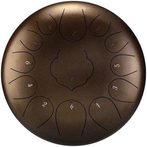 12-дюймовые 13-тонные стальные язычные барабаны Мини-ручные барабаны с барабанными палочками Ударные музыкальные инструменты