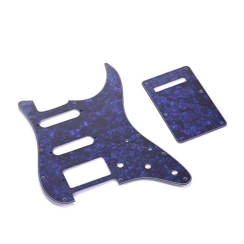 SSH Guitar Pickguard Set mit Schrauben an der Rückenplatte PVC Pick Guard